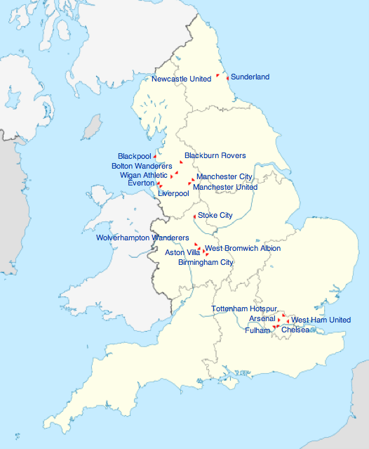 Everton England Map.England Remco Van Der Stoep