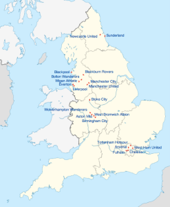 Clubs in the English Premier League 2010-11 (Wikipedia)