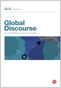 Image of the Global Discourse journal cover page